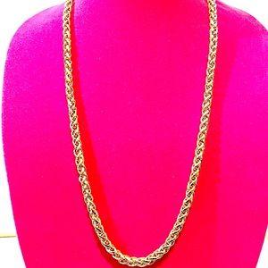 Vintage Trendy Gold Tone Necklace